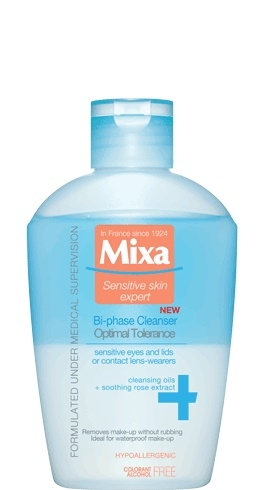 MIXA Mixa Bi-phase Cleanser Optimal Tolerance odličovač očí 125 ml