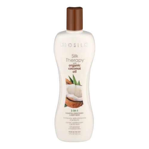 FAROUK SYSTEMS Farouk Biosilk Organic Coconut Oil 3-in-1 Shampoo, Conditioner & Body Wash 355 ml