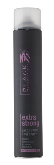 Objem + Jemné vlasy Black Professional Line Extra Strong Lacca Hair Spray 750 ml
