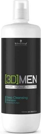 [3D] Men Schwarzkopf Professional [3D] Men Deep Cleansing Shampoo 1000 ml