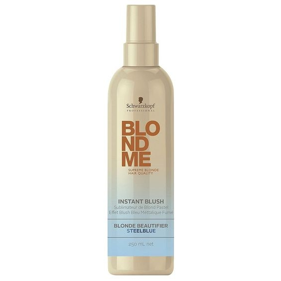 Blondme Schwarzkopf Professional Blondme Instant Blush Steel Blue 250 ml