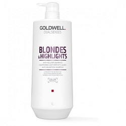 Melírované vlasy  Goldwell Dualsenses Blondes & Highlights Anti-Yellow Shampoo 1L