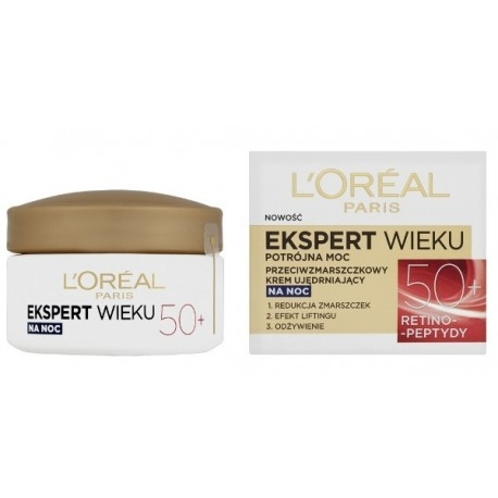 Pleťová kosmetika L'Oréal Paris Expert Age 50+ Specialist Night Cream 50 ml