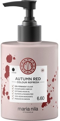 Maria Nila Colour Refresh Autumn Red 6.60 maska s farebnými pigmentami 300 ml