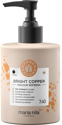 MARIA NILA Maria Nila Colour Refresh Bright Copper 7.40 maska s farebnými pigmentami 300 ml