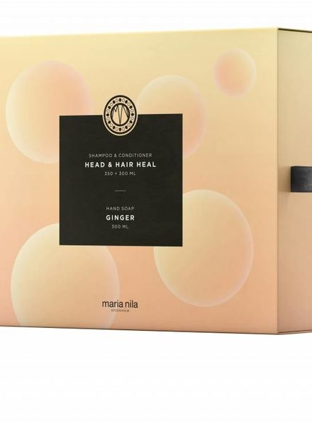 Maria Nila Head&Hair Heal Shampoo 350 ml+Conditioner 300 ml+Hand Soap Ginger 300 ml