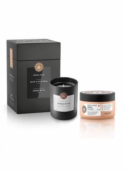 Maria Nila Head & Hair Heal Masque 250 ml + Ember Myth Candle 210 g darčeková sada
