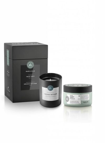 Maria Nila True Soft Masque 250 ml + Orchid Vetiver Candle 210 g darčeková sada
