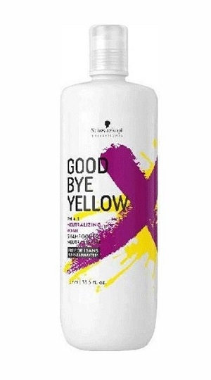 Good Bye Yellow Schwarzkopf Professional Good Bye Yellow Neutralizing Wash Shampoo 1l