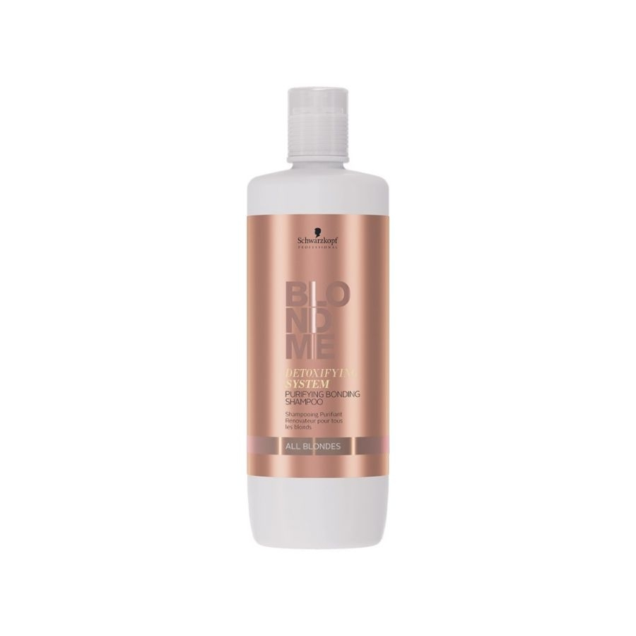 Blondme Schwarzkopf Professional Blondme Detoxifying System Purifying Bonding Shampoo 1000 ml