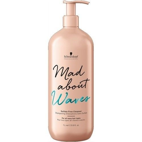 Mad About Curls & Waves Schwarzkopf Professional Mad About Waves Sulfate Free Cleanser 1l